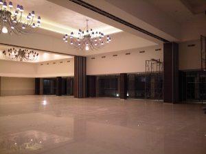 pintu lipat, partisi ruangan dorong untuk hall, dan ruang meeting
